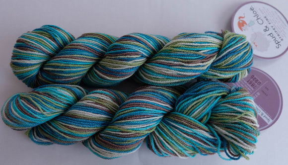 Blue Sky Fibers, Fine, stripey (Spud and Chloe)