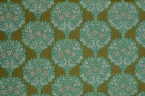 Fabric from Tilda, Harvest Collection, Flower Tree Green 481503