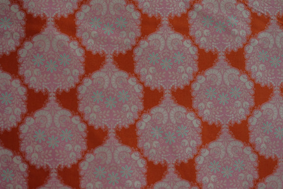 Fabric from Tilda, Harvest Collection, Flower Tree Ginger 481505