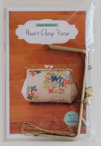 Pattern for Making of the Heart Clasp Purse by Zakka Workshop. Heart Clasp included! ZW2194