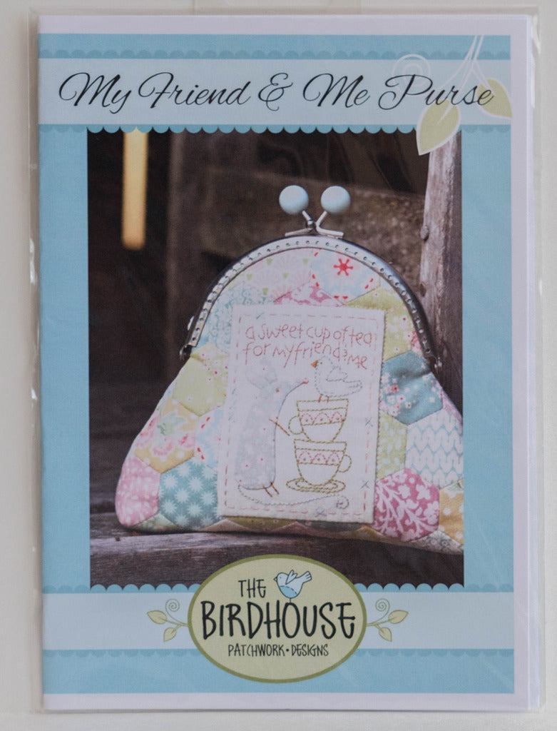 "Pattern ""My Friend and Me Purse"" making, Sewing and Embroidery by The Birdhouse #F0050"