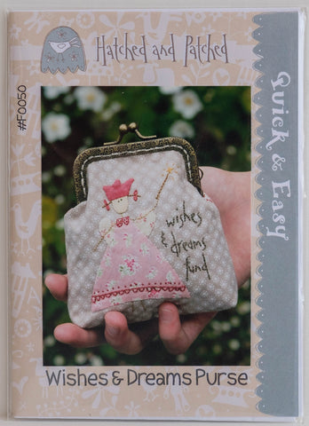 "Pattern ""Wishes and Dreams Purse"" making, Sewing and Embroidery by Hatched and Patched #F0050"