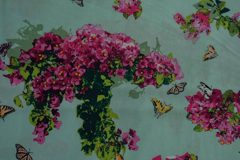 Fabric Bougainvillush from Art Gallery, Mediterraneo Collection MED-22609