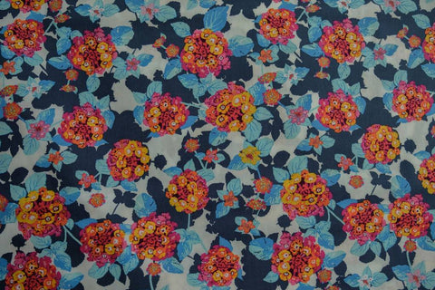 Fabric Lantana Cobalt from Art Gallery Fabrics, Mediterraneo Collection MED-32600