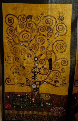Fabric SRKM-17180-133  Gold from Gustav Klimt Collection, from Robert Kaufman Fabrics