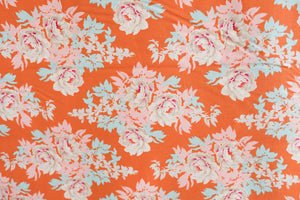 Fabric from Tilda, Sunkiss Collection, Beach Peony Ginger 100027
