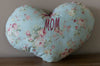 "Pillow ""MOM"", Handstitched From Lecien Shabby Chic Collection Cotton"