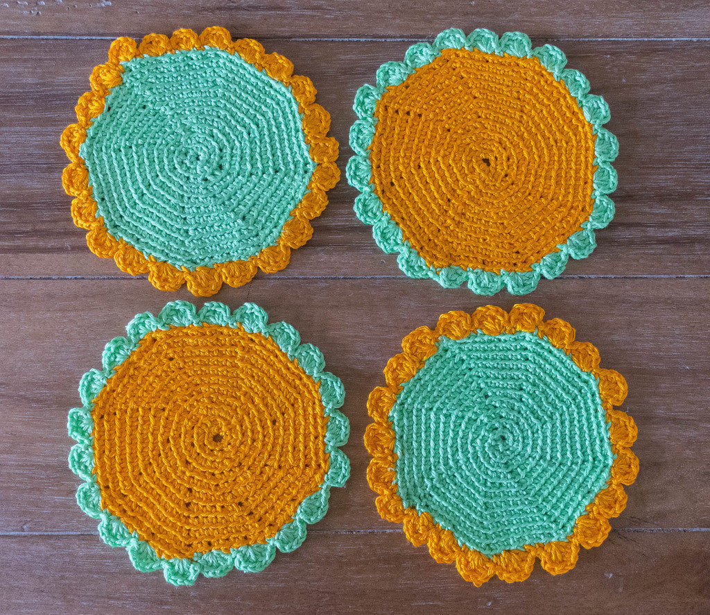 Coasters--Crocheted, Set of 4