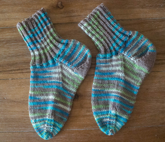 Socks--Hand Knit From SPUD AND CHLOE FINE AND STRIPEY FINE size: child
