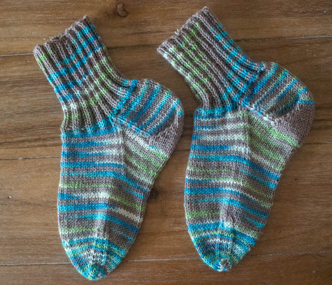 Socks--Hand Knit From SPUD AND CHLOE FINE AND STRIPEY FINE size: adult