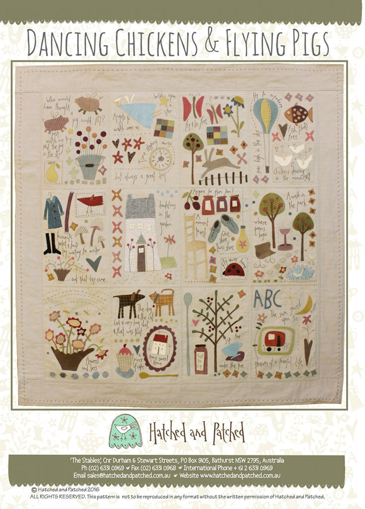 Pattern Dancing Chickens and Flying Pigs from Hatched and Patched, HAPA405