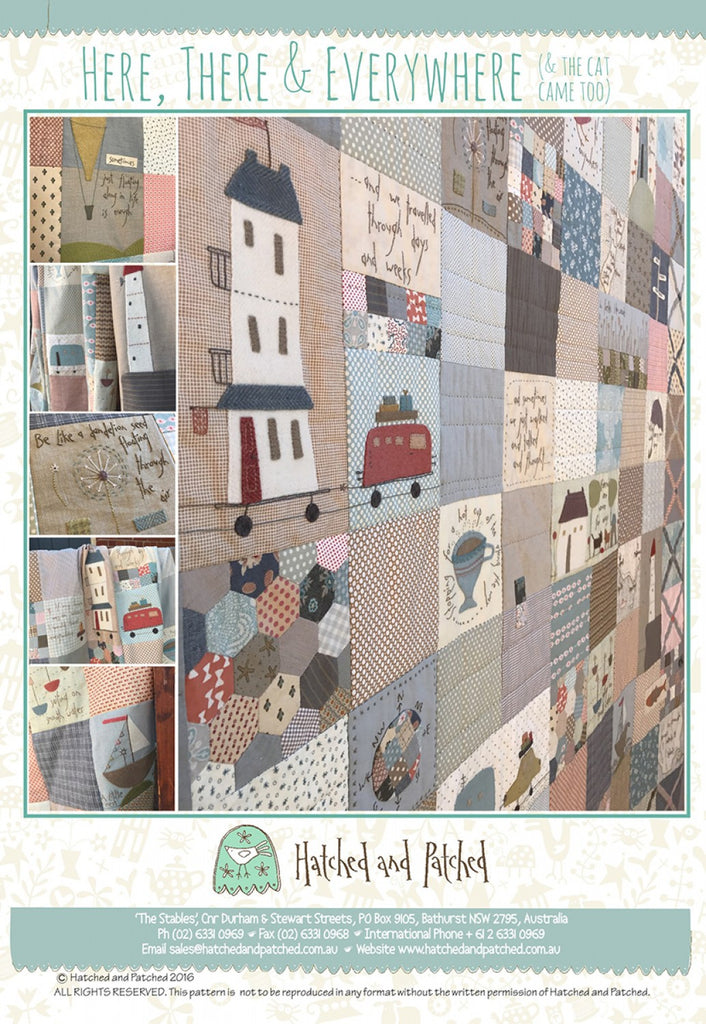 Pattern Book Here, There, and Everywhere from Hatched and Patched, HAPA406