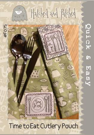 Pattern Time to Eat Cutlery Pouch from Hatched and Patched, F075