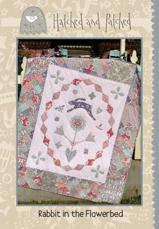 Pattern Rabbit in the Flowerbed from Hatched and Patched, HAPP120