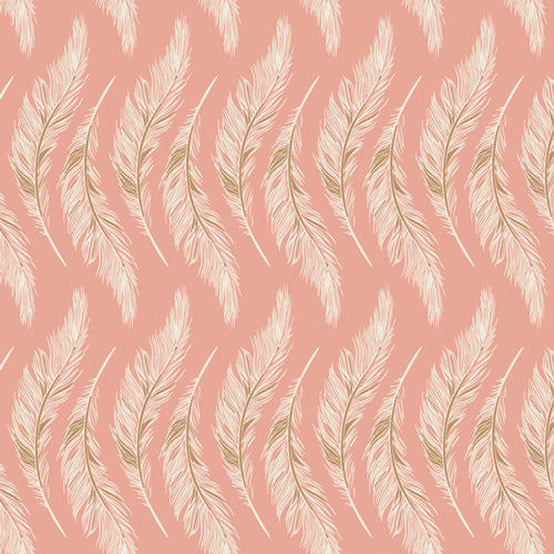 Fabric PRESENTLY PLUMES ROSE from Art Gallery, Homebody Collection HMB-44955