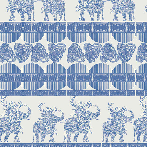 Fabric Good Fortunes from Art Gallery Fabrics, Indigo and Aster Collection, IDA- 14804