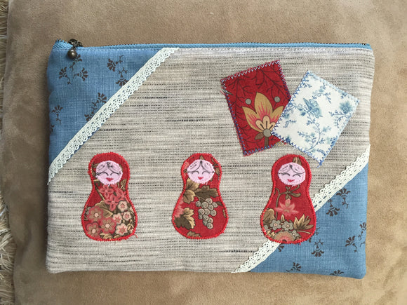 Cosmetic Pouch with Matryoshkas - temporarily out of stock