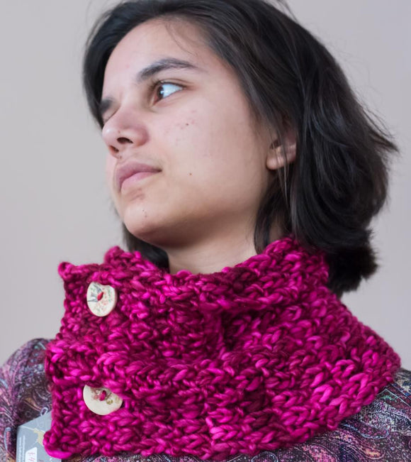 Cowl, handknit, Coquette from Madelintosh