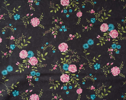 Quilting Fabric Rambling Rose - Chocolate,  Moda  fabrics 1867.34404