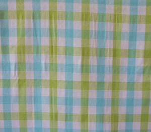 Quilting and Sewing Fabric Wee Wovens Bright by Moda . Item #12127 20 Aqua/green/white plaid