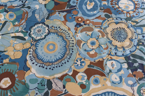 Quilting/ Sewing Fabric Larkspur in Bloom LA/ Indigo - LAWN by Alexander HENRY