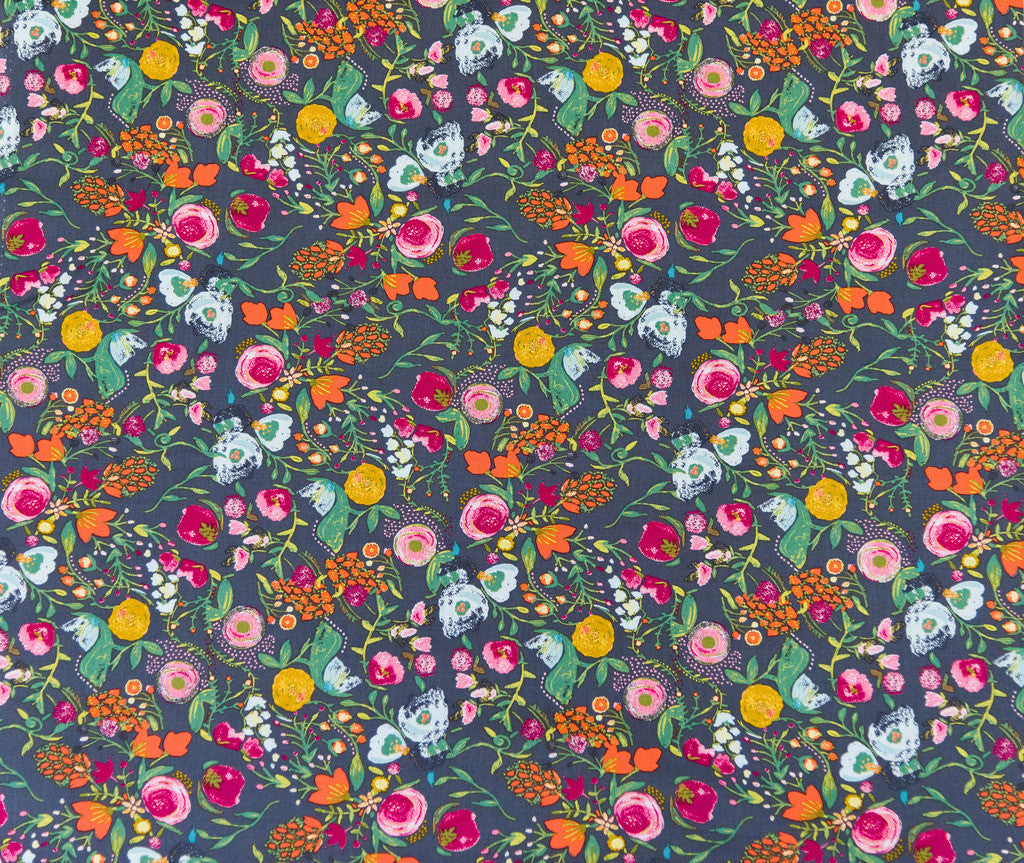 Fabric Budquette Nightfall  from Art Gallery, Emmy Grace Collection EMG-5607