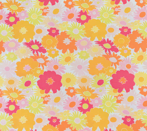 Fabric Lasy Daisy Raspberry from Art Gallery, Dreaming Vintage Collection DV50020