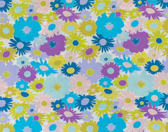 Fabric Lasy Daisy Plum from Art Gallery, Dreaming Vintage Collection DV-60020