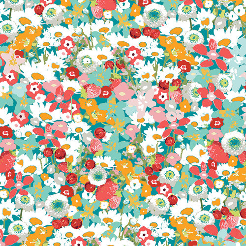 Fabric Flower Medley from Art Gallery, Lavish Collection LAH-26806