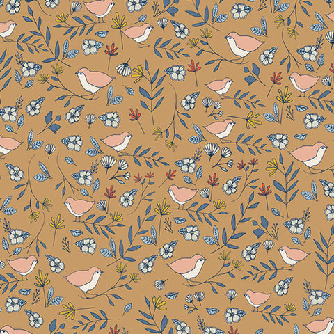 Fabric Lovebirds Amber from Art Gallery, Love Story Collection LVS-48809