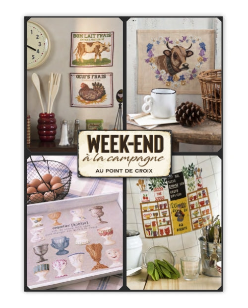 Cross stitch Magazine from France Creation Point de Croix, Special Issue: WEEK-END in the Country, Week-end a la campagne.