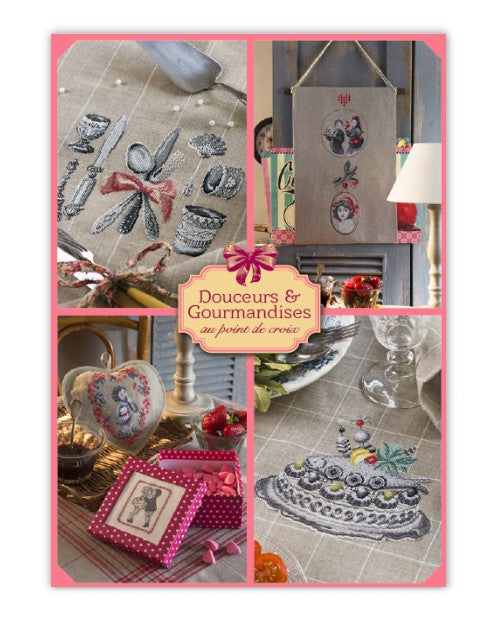 Cross stitch Magazine from France Creation Point de Croix, Special Issue: SWEETS & DELICACIES, Douceurs & Gourmandises