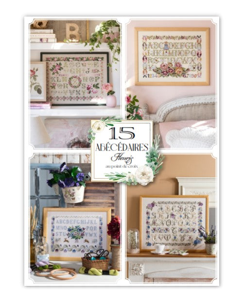 Cross stitch Magazine from France Creation Point de Croix, Special Issue: 15 Alphabets, 15 ABECEDAIRES