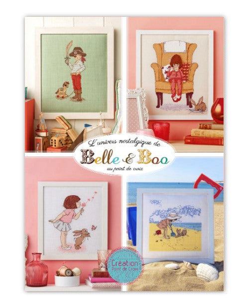 Cross stitch Magazine from France Creation Point de Croix, Special Issue: Belle & Boo