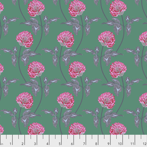 Fabric Leaning-Jade from Anna Maria Horner's Conservatory Collection for Free Spirit. PWAM004.JADEX