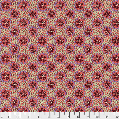 Fabric Stone Flowers - ROSE by Odile Bailloeul from Land Art Collection for Free Spirit, PWOB024.ROSE