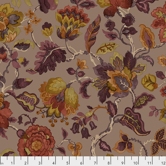 Fabric AmanPurI, color: Spice, from Cashmere Collection, Sanderson, for Free Spirit, PWSA009. SPICE