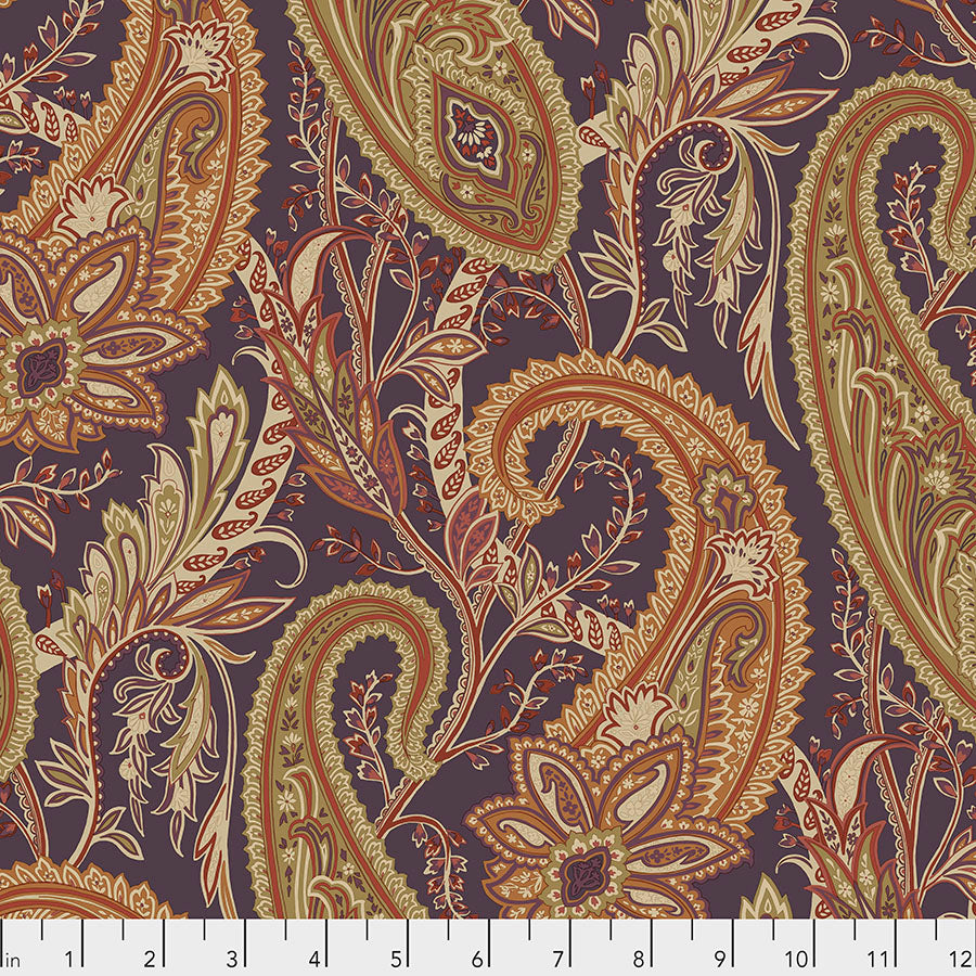 Fabric Cashmere Paisley, Spice, from Cashmere Collection, Sanderson, for Free Spirit, PWSA012.SPICE
