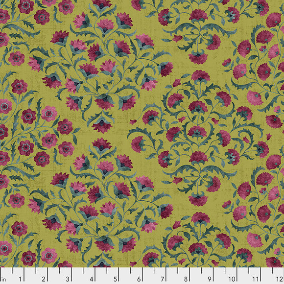 Fabric OTTOMAN FLOWERS, Garden, from Cashmere Collection, Sanderson, for Free Spirit, PWSA014.GARDEN