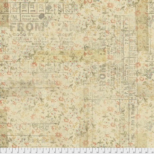 Fabric From Camden - Multi,  Memoranda Collection from Tim Holtz for Free Spirit.