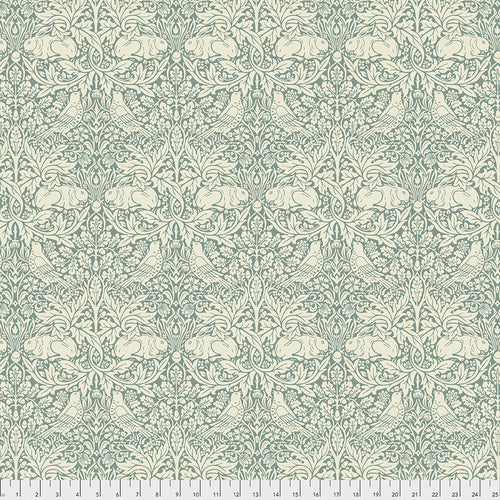 Fabric Brer Rabbit, from Standen Collection, Original Morris & Co for Free Spirit,  PWWM026.TEAL