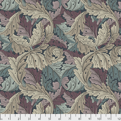 Fabric Acanthus - Dusk, from Standen Collection, Original Morris & Co for Free Spirit, PWWM027.DUSK