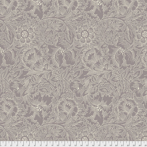 Fabric Poppy - Lavender, from Standen Collection, Original Morris & Co for Free Spirit, PWWM029.LAVENDER