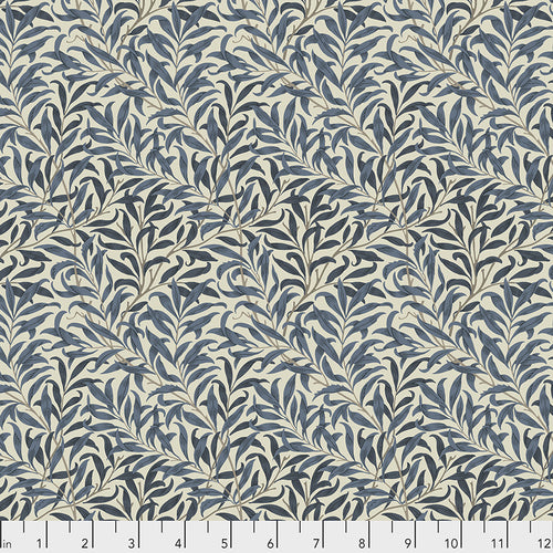 Fabric  Willow Boughs - Navy, from Standen Collection, Original Morris & Co for Free Spirit, PWWM030.NAVY