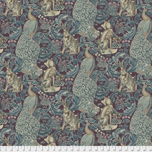 Fabric Forest - Plum, from Standen Collection, Original Morris & Co for Free Spirit, PWWM031.PLUM