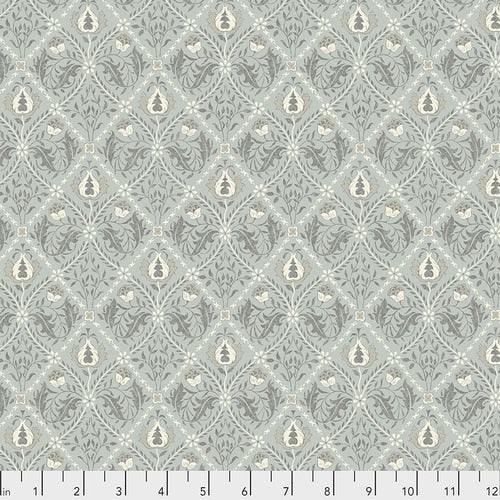 Fabric Pure Trellis Mint, from Pure MINERALS Collection, Original Morris & Co for Free Spirit, PWWM034 MINT
