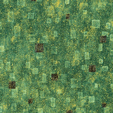 Fabric SRKM-17181-7 GREEN from Gustav Klimt Collection, from Robert Kaufman Fabrics