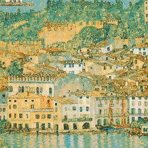 Fabric SRKM-18656-73  LAKE  from Gustav Klimt Collection, from Robert Kaufman Fabrics