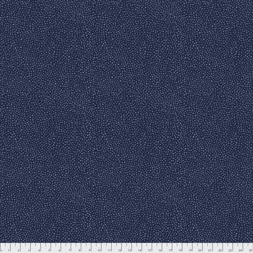 Fabric Seaweed Dot- Navy, from Kelmscott Collection, Original Morris & Co for Free Spirit, PWWM008.NAVYX