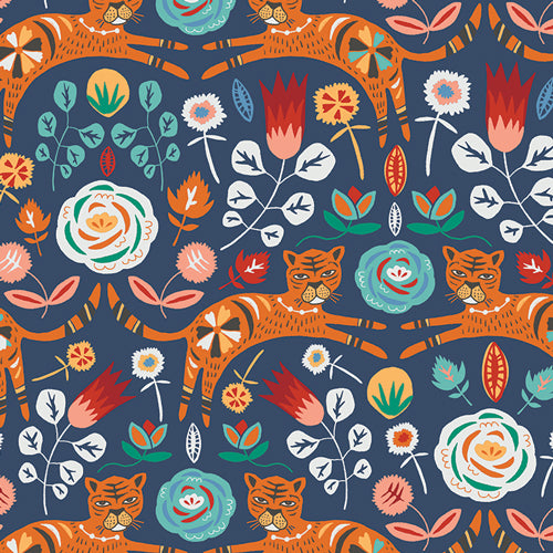Fabric Tigris Indigo from Art Gallery Fabrics, Tallin Collection TAL-65300